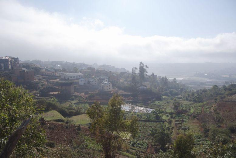 Het uitzicht tijdens onze vroege start van de dag.