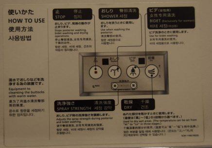 handleiding voor Japanse wc's