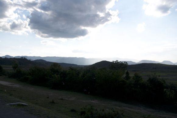 Uitzicht vanuit de taxi brousse