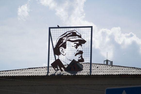 Lenin is nog op veel plekken te vinden in deze voormalige Sovjet republiek.