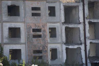 Vervallen beton is er uiteraard ook.
