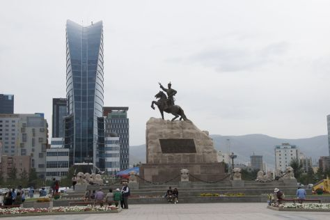 We maken vandaag een flinke wandeling door Ulaanbaatar.