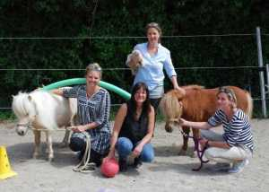 Pferdegestütztes Seminar mit Shetlandponys