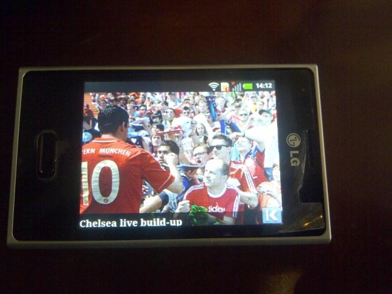 UEFA Website on the LG L3 E400 OPTIMUS