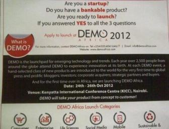 DEMO Africa Innovation Tour Poster Kenya