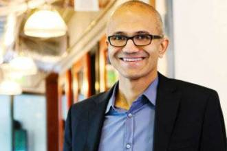 Satya Nadella NEw Microsoft CEO taking Over From Steve Ballmer Juuchini