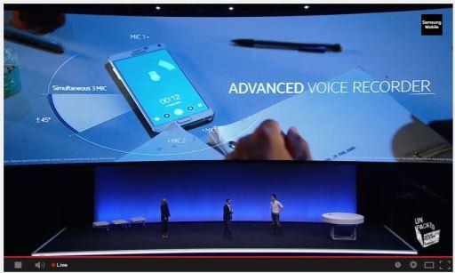 Advanced Voice Recording Capability On The Samsung Galaxy Note 4 IFA Berlin JUUCHINI