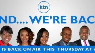 KENYAN TV STATIONS MAKE A COMEBACK