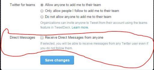 Twitter Privacy Settings Direct Message Anyone JUUCHINI