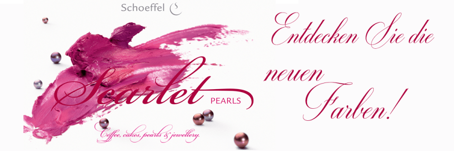 Die neuen Perlen in betörenden Rottönen- Scarlet bei Juwelier Becher