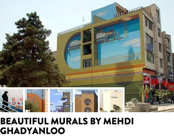 Beautiful murals by Mehdi Shadyanloo