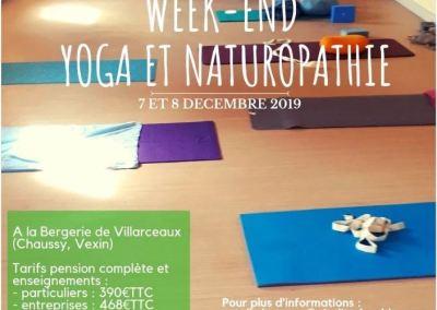 Les 7 et 8 décembre 2019 : SANTÉ et VITALITÉ par le YOGA et la NATUROPATHIE