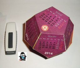 Calendario dodecaedro 2014