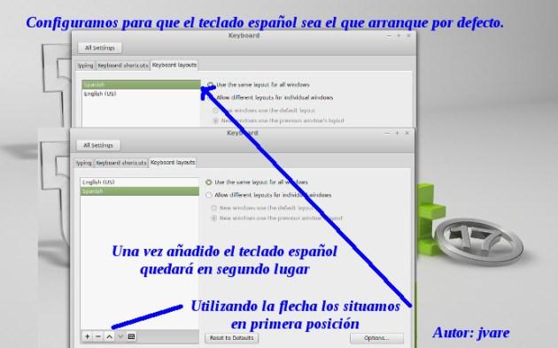 Conf Mint17 arranque con teclado español