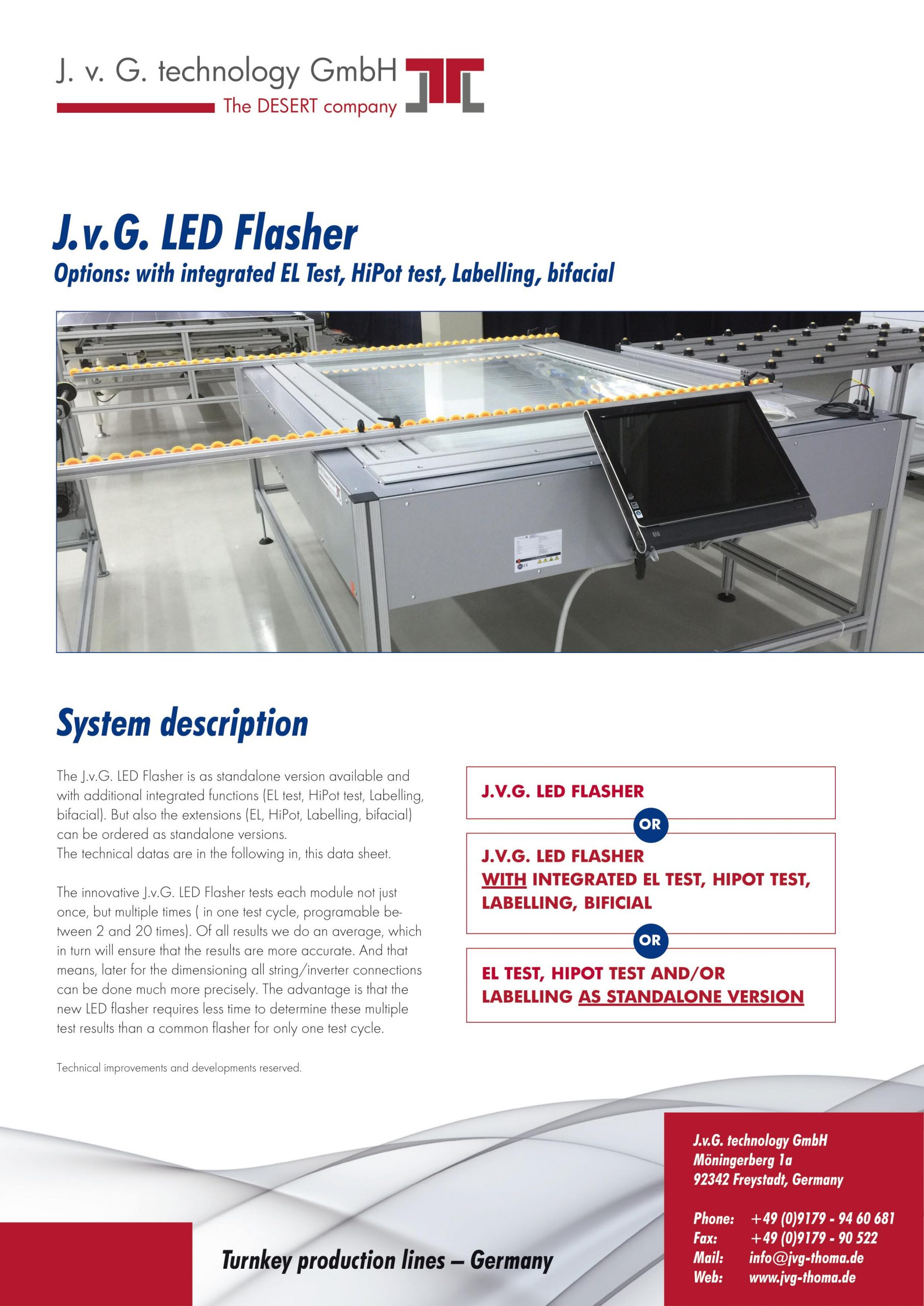 You are currently viewing J.v.G. Technologies Releases State-of-the-Art Led Testing Flashers