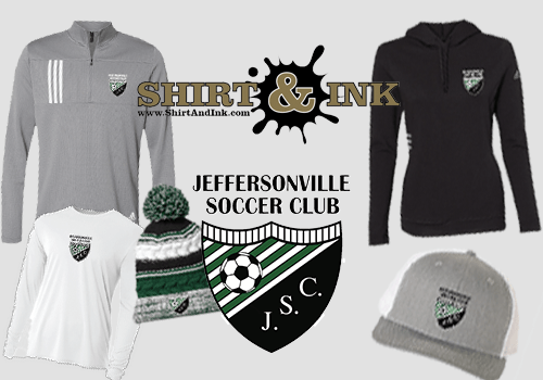 New Jville Soccer Club Gear Available – just in times for the Holidays!!