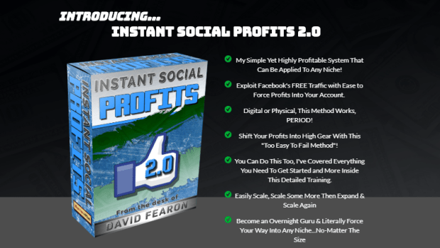 Instant Social Profits 2.0 WSO by David Fearon