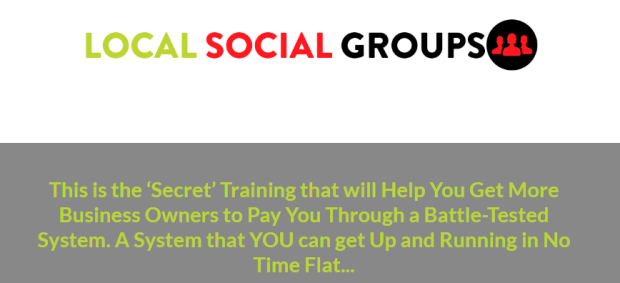 Growth Hack Mindset : Local Social Groups Training WSO by Kerry Knoll