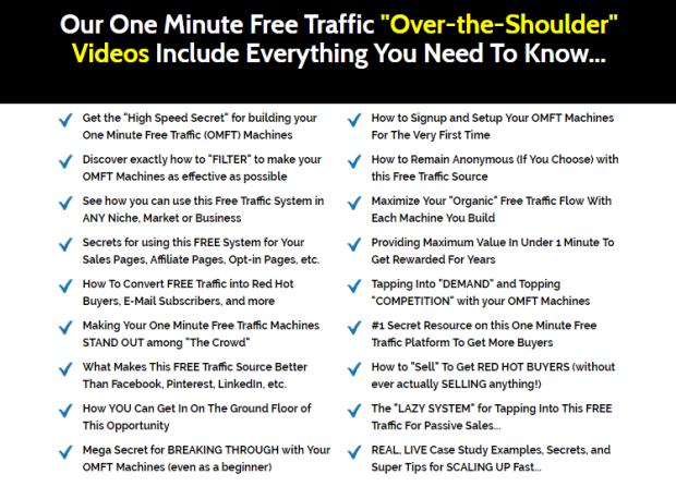 One Minute Free Traffic System by Matthew Rhodes