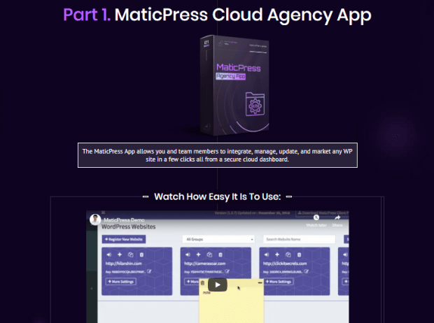 MaticPress Pro Agency Software System & OTO by Ben Murray