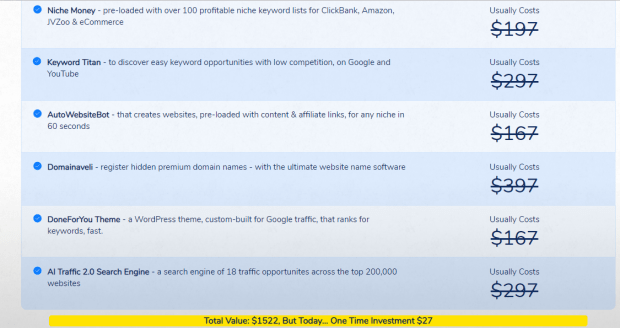 Affiliate Traffic Bots OTO Upsell