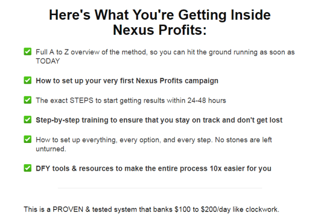 Nexus Profits Training OTO Upsell Review