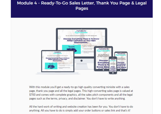 Capitalize on Opportunities PLR OTO Upsell Review