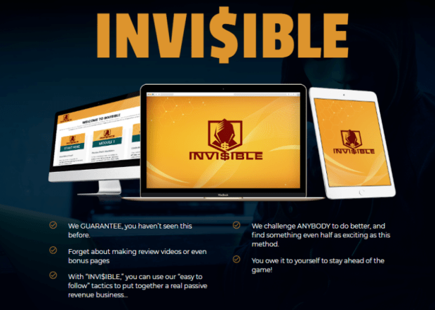 Invi$ible Software Training & OTO Upsell by Jono Amstrong & Brendan Mace