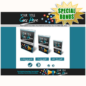 Special Bonuses - June 2015 - Marketing Minisite Template