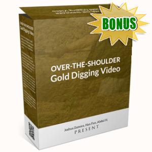 VideoRankr Bonuses  - Over-the-shoulder Gold Digging Video