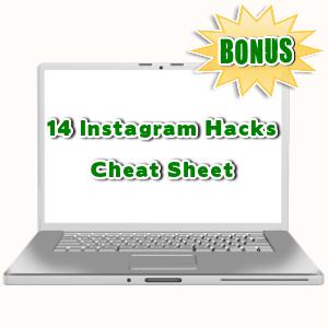 InstaNinjas Bonuses  - 14 Instagram Hacks Cheat Sheet