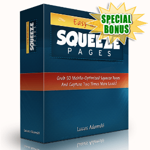 Special Bonuses - September 2015 - Easy Mobile Squeeze Pages Pack