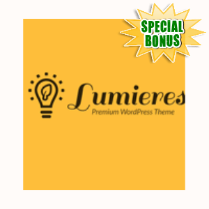 Special Bonuses - September 2015 - Lumieres WordPress Theme Plugin