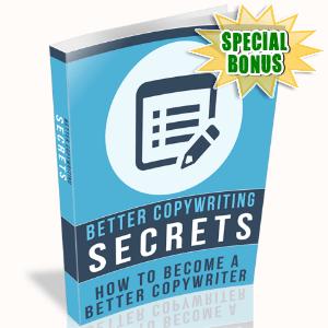 Special Bonuses - January 2016 - Better Copywriting Secrets