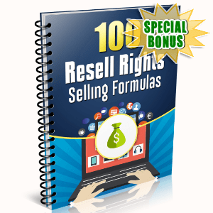 Special Bonuses - February 2016 - 100 Resell Rights Selling Formulas