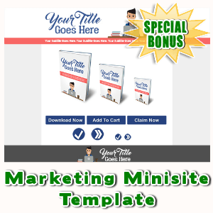 Special Bonuses - April 2016 - Marketing Minisite Template