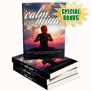 Special Bonuses - September 2016 - Calm Mind Healthy Body