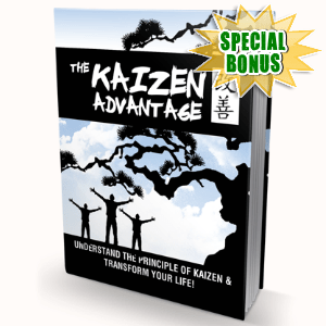 Special Bonuses - October 2016 - The Kaizen Advantage Gold Upgrade Video Series