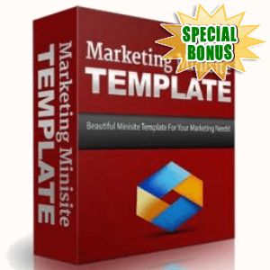 Special Bonuses - October 2016 - Marketing Minisite Template
