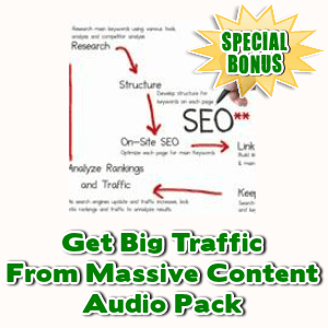 Special Bonuses - January 2017 - Get Big Traffic From Massive Content Audio Pack