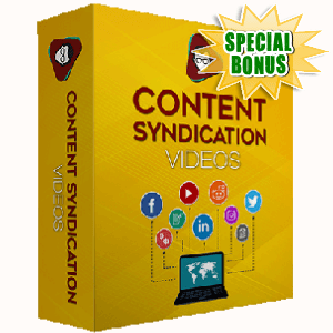 Special Bonuses - October 2017 - Content Syndication Videos Pack