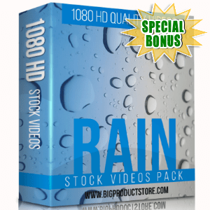 Special Bonuses - December 2017 - Rain 1080 HD Stock videos Pack