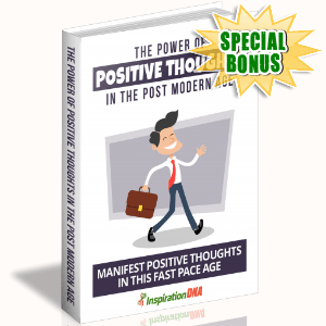 Special Bonuses - December 2017 - The Power Of Positive Thoughts In The Post Modern Age
