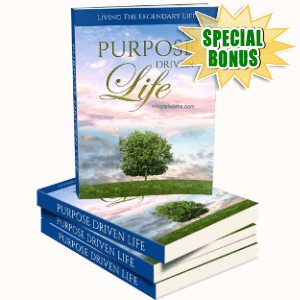 Special Bonuses - August 2018 - Purpose Driven Life Pack