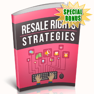 Special Bonuses - November 2018 - Resale Rights Strategies