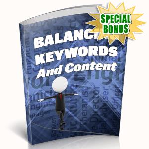 Special Bonuses - May 2019 - Balancing Keywords And Content