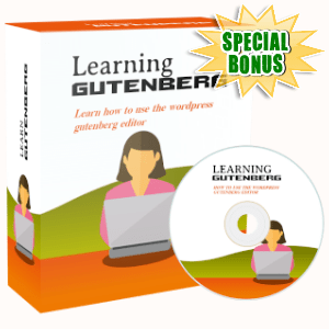 Special Bonuses - September 2019 - Learning Gutenberg Video Series Pack