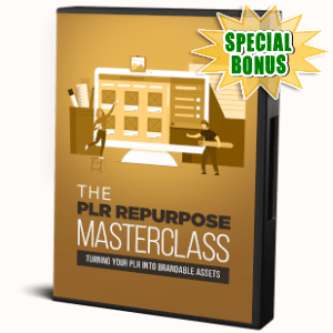 Special Bonuses - November 2019 - The PLR Repurpose Masterclass Video Series Pack