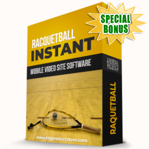 Special Bonuses - December 2019 - Racquetball Instant Mobile Video Site Software