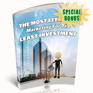 Special Bonuses - March 2020 - The Most Effective Marketing For The Least Investment